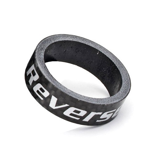 "REVERSE Spacer 10mm Carbon 1 1/8"" (Schwarz)"