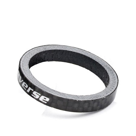 "REVERSE Spacer 5mm Carbon 1 1/8"" (Schwarz)"