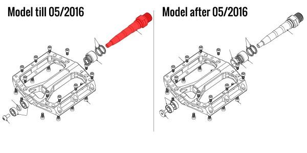 REVERSE Achse links bis 05/2016 (CrMo-Stahl)